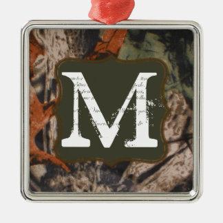 Hunting Camo Hunters Cam Monogram Initial Ornament