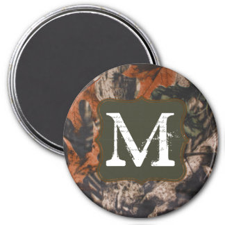 Hunting Camo Hunters Camou Monogram Initial Magnet