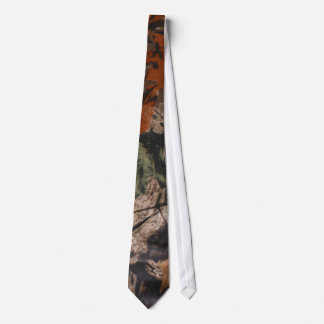 Hunting Camo Hunters Camouflage Real Leaf Mens Tie