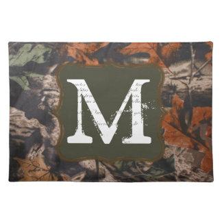 Hunting Camo Hunters Monogram Initial Place Mat