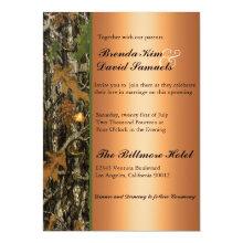 Hunting Camo Leaves Wedding Invitation