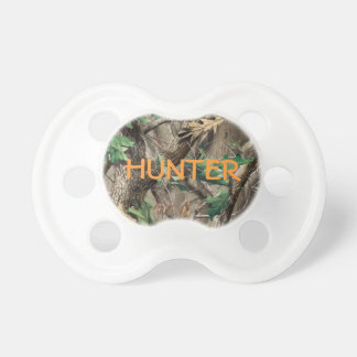 Hunting Camo Pacifier w/ Personalized Name