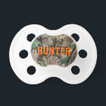 """Hunting Camo Pacifier w/ Personalized Name<br><div class=""""desc"""">Hunting Camo Pacifier w/ Personalized Name</div>"""