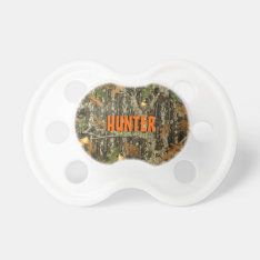 Hunting Camo Pacifier W/ Personalized Name at Zazzle