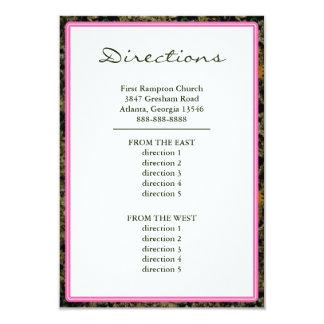 Hunting Camo Pink Custom Wedding Directions Card