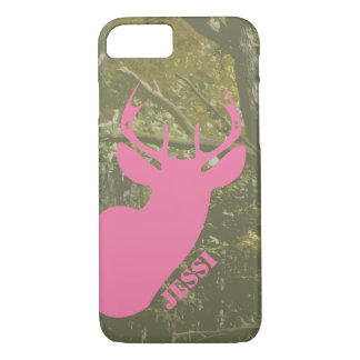 Hunting Camo & Pink Deer Head iPhone 7 Case