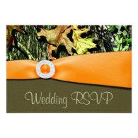 Hunting Camo RSVP Wedding Cards Invitation
