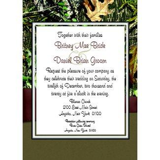 Hunting Camo Wedding Invitations invitation