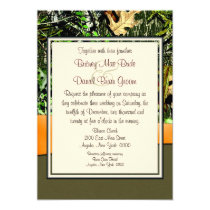"Hunting Camo Wedding Invitations 5"" X 7"" Invitation Card"