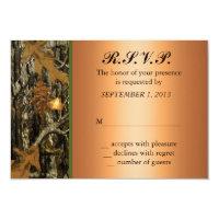 Hunting Camo Wedding RSVP Invite 3.5&quot; X 5&quot; Invitation Card (<em>$1.86</em>)