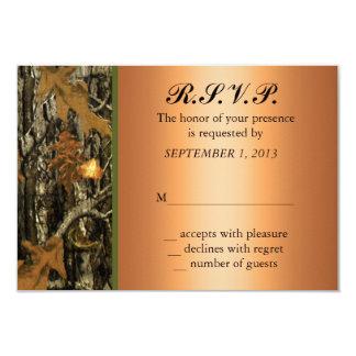 Hunting Camo Wedding RSVP Invite