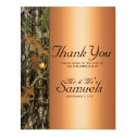 Hunting Camo Wedding Thank You Card 4.25&quot; X 5.5&quot; Invitation Card (<em>$1.96</em>)