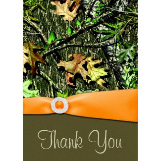 Hunting Camo Wedding Thank You Cards card