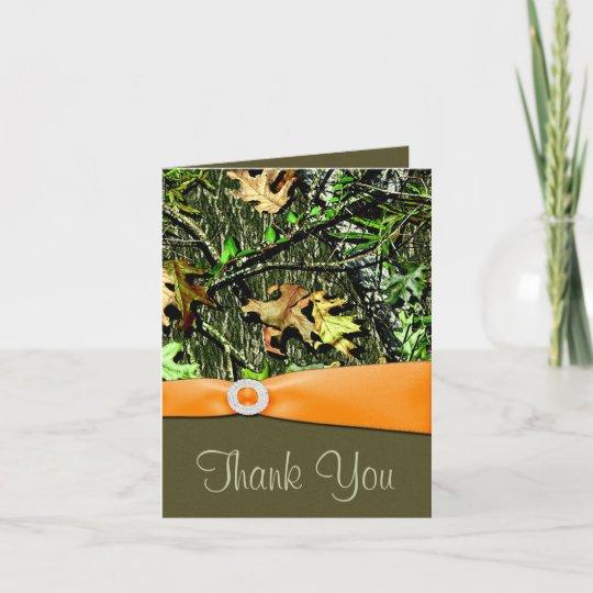 Hunting Camo Wedding Thank You Cards