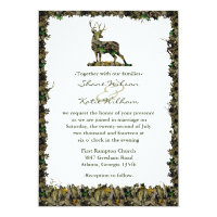 Hunting Camouflage wedding invitation