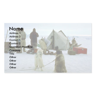 Hunting camp, Greenland Double-Sided Standard Business Cards (Pack Of 100)