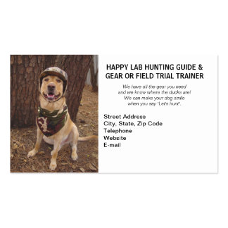Hunting/Camping Guide & Gear/Field Trial Trainer Business Card Templates