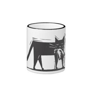 Hunting Cat Coffee Mugs