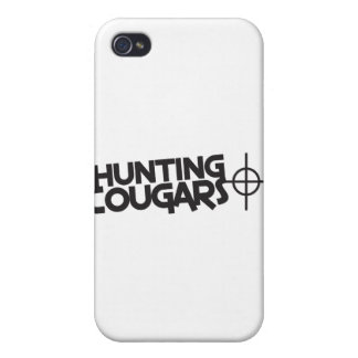 hunting cougars with bullseye and target iPhone 4 case