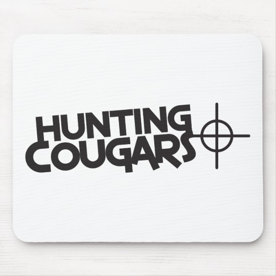 hunting cougars with bullseye and target mouse pad