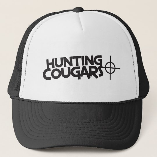 hunting cougars with bullseye and target trucker hat