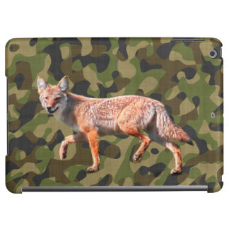 Hunting Coyote on Camoflage BG - Wildlife Photo Cover For iPad Air