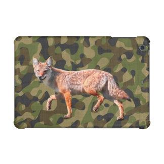 Hunting Coyote on Camoflage BG - Wildlife Photo iPad Mini Cover