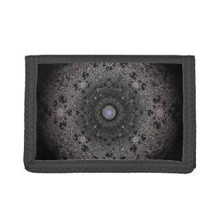 Hunting dark sketch of an eye-like form trifold wallet