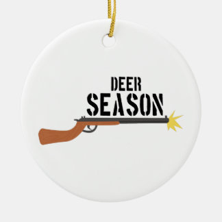 Hunting_DeerSeason Ceramic Ornament