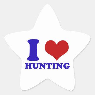 hunting design star sticker