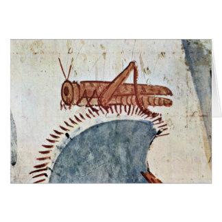 Hunting Details: Locust By Maler Der Grabkammer De Greeting Card