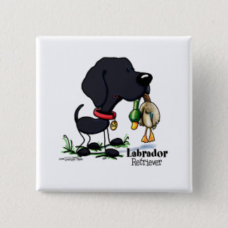Hunting Dog - Black Labrador Retriever button