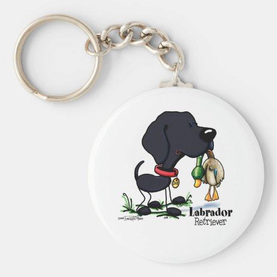 Hunting Dog - Black Labrador Retriever keychain