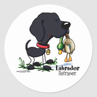 Hunting Dog - Black Labrador Retriever stickers