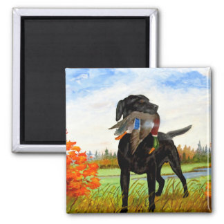 Hunting Dog Painting Magnet