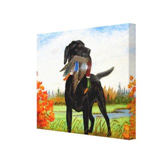 Hunting Dog Painting Wrapped Canvas