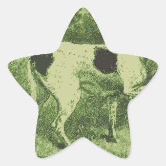 Hunting Dog Star Sticker