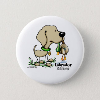 Hunting Dog - Yellow Labrador Retriever button