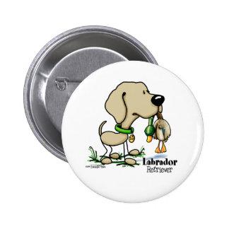 Hunting Dog - Yellow Labrador Retriever button