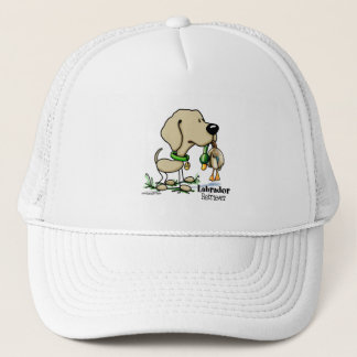 Hunting Dog - Yellow Labrador Retriever hat