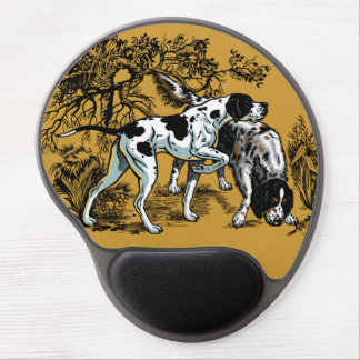 hunting dogs gel mouse pad