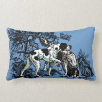 hunting dogs lumbar pillow