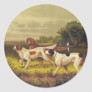Hunting Dogs Sport in July by Hoover Round Stickers