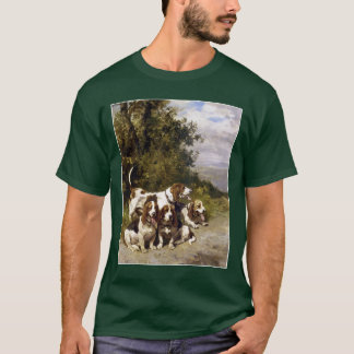 Hunting Dogs - Vintage Dog Art by de Penne T-Shirt