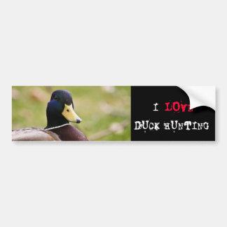 Hunting Duck Bumper Sticker