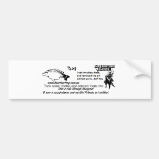 hunting exhibet.png bumper sticker