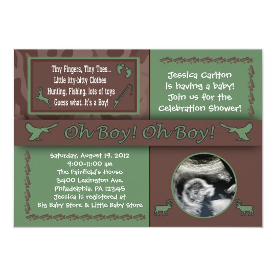 Hunting U0026 Fishing Baby Shower Invitations