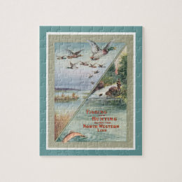 Hunting Fishing Poster Jigsaw Puzzle