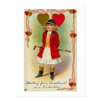 Hunting for a Sweetheart Postcard