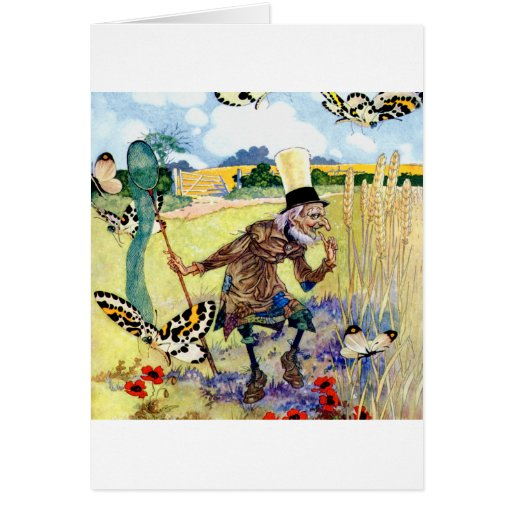 Hunting For Butterflies In Wonderland Card